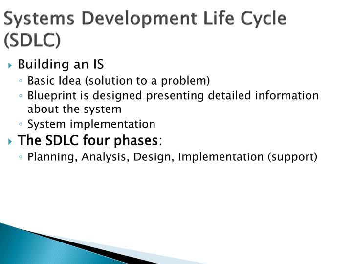 Systems development life cycle sdlc