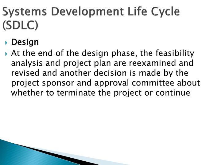 Systems Development Life Cycle (SDLC)