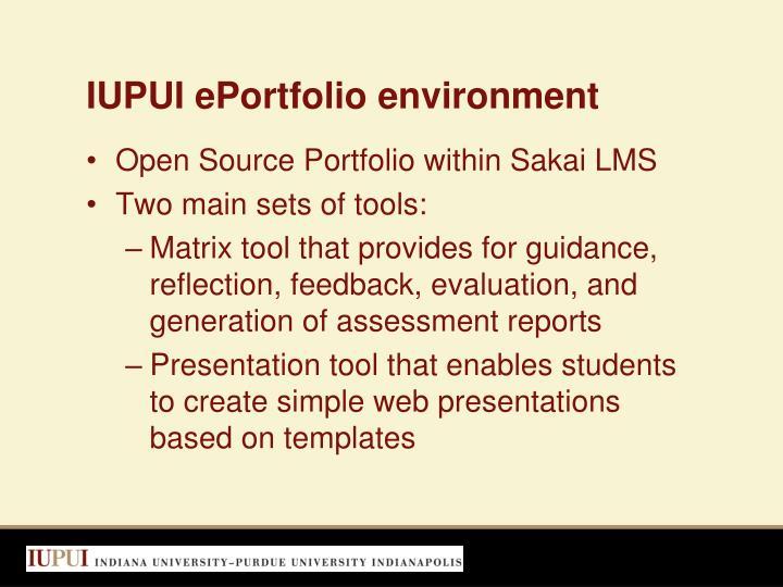 IUPUI ePortfolio environment
