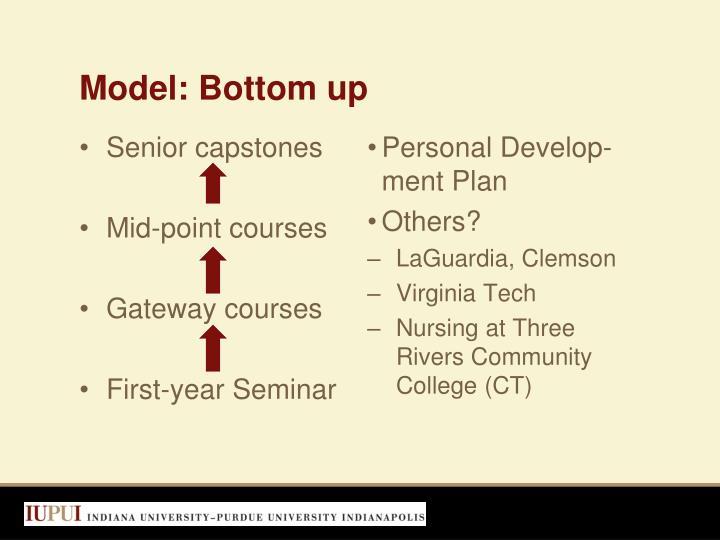 Model: Bottom up