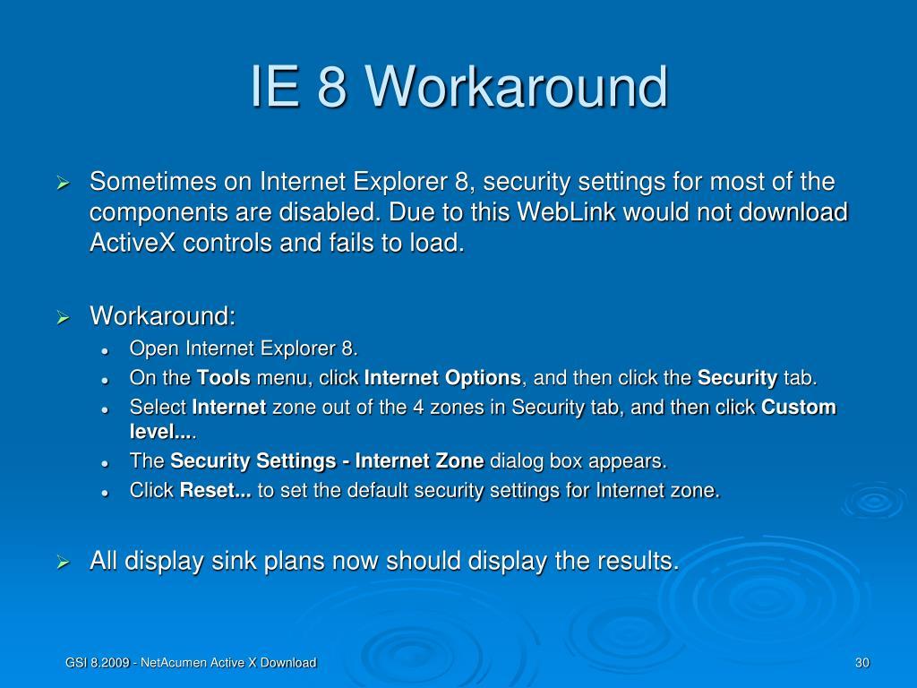PPT - NetAcumen ActiveX Download Instructions PowerPoint
