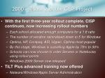 2000 phase 2 of the cisp project