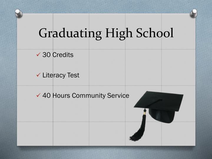 Graduating high school