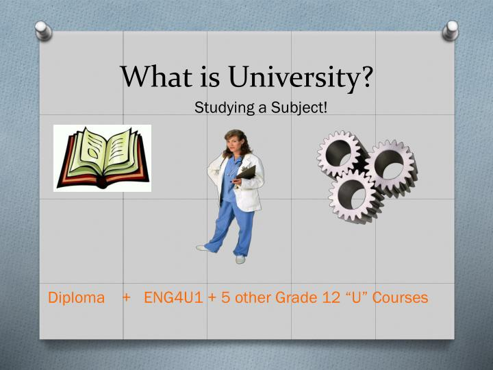 What is University?