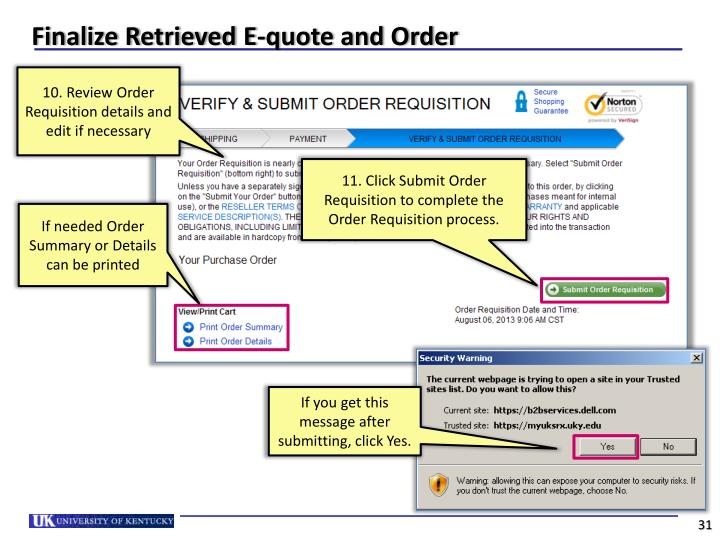 Dell Quote To Order   Ppt Using The Srm Dell Punch Out Catalog Powerpoint Presentation