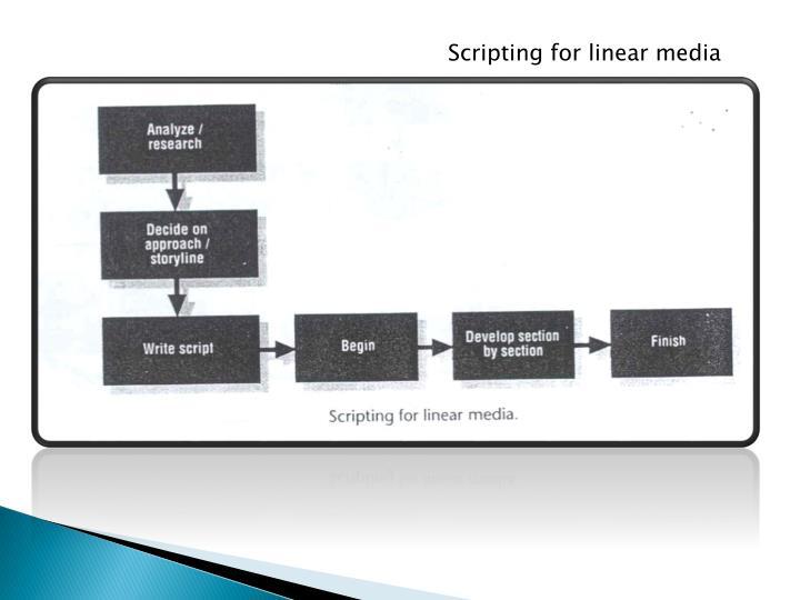 Scripting for linear media