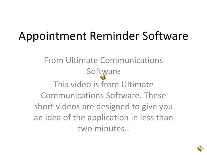 appointment reminder software n.