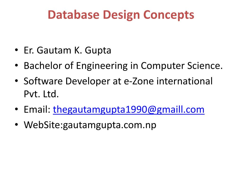 Ppt Database Design Concepts Powerpoint Presentation Free Download Id 1575302