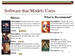 software that models users