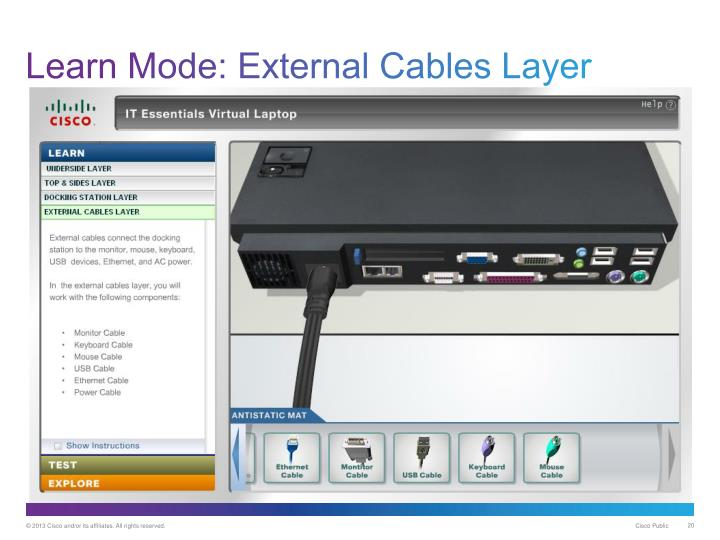 Learn Mode: External Cables Layer