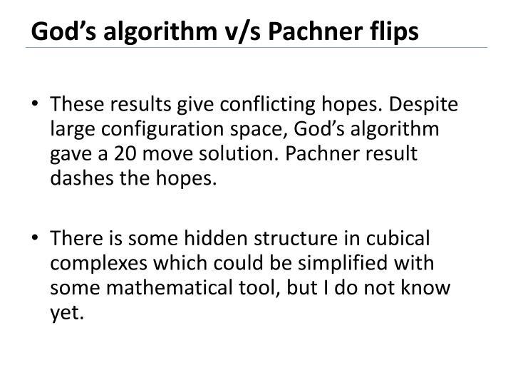 God's algorithm v/s