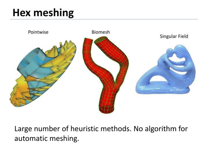 Hex meshing