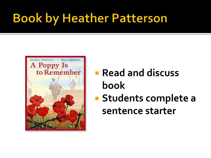 Book by Heather Patterson