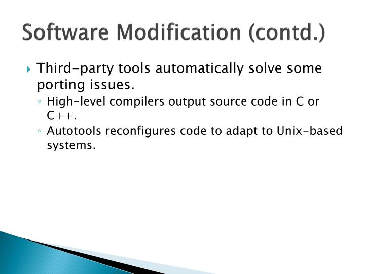 Software Modification (contd.)