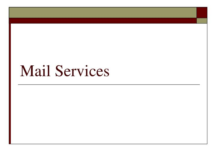 mail services n.