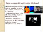 demo samples of openkinect for windows 71