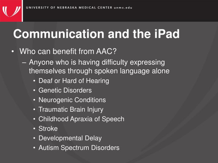 Communication and the ipad1