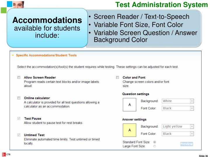Student Testing Accommodations