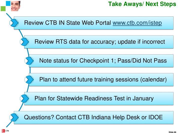Takeaways Next Steps