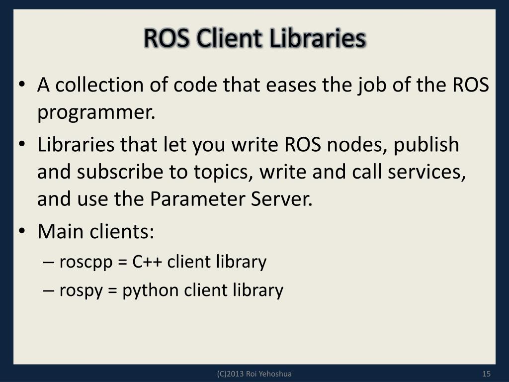 PPT - ROS - Lesson 1 PowerPoint Presentation - ID:1575763