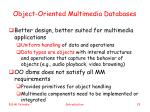 object oriented multimedia databases