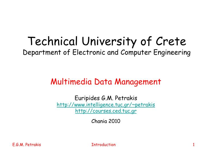 technical university of crete department of electronic and computer engineering n.