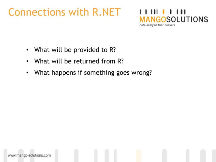 Connections with R.NET