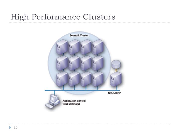 High Performance Clusters