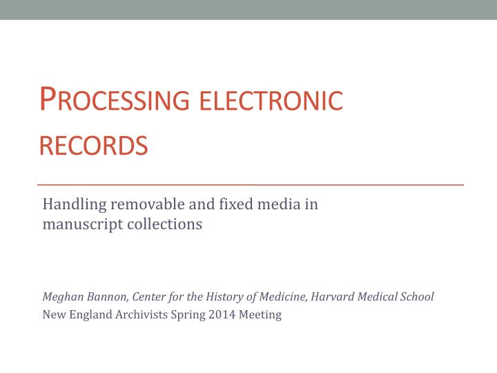 processing electronic records n.