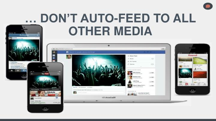 … DON'T AUTO-FEED TO ALL OTHER MEDIA