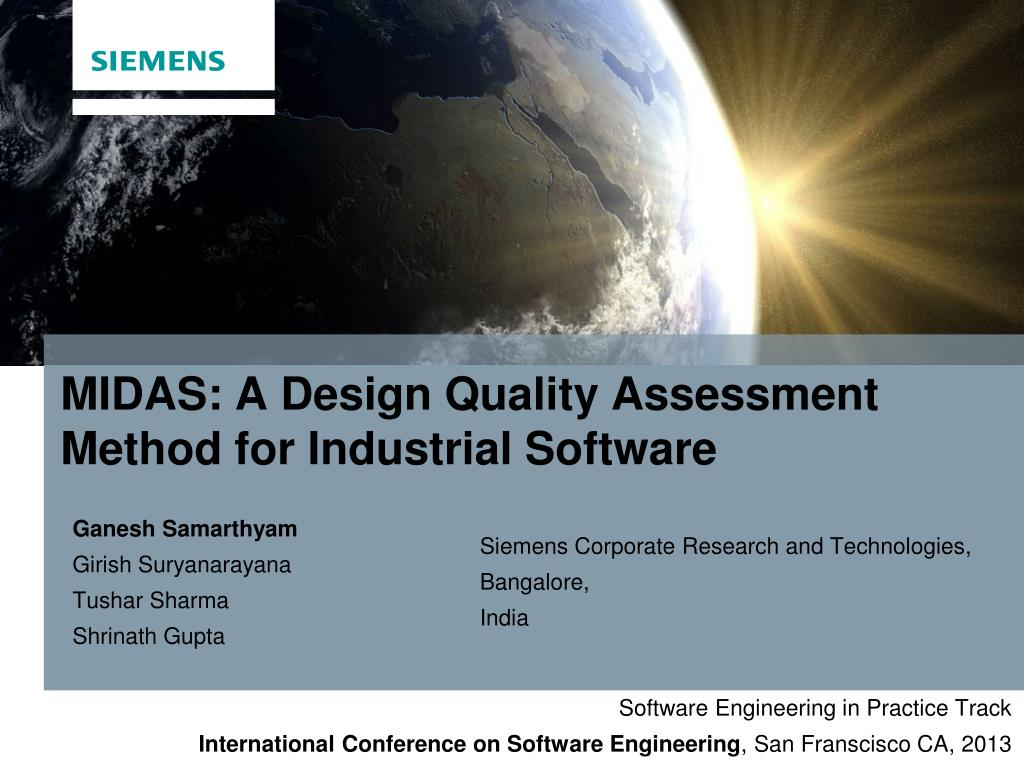 Ppt Midas A Design Quality Assessment Method For Industrial Software Powerpoint Presentation Id 1575953