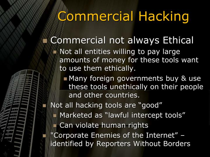 Commercial Hacking