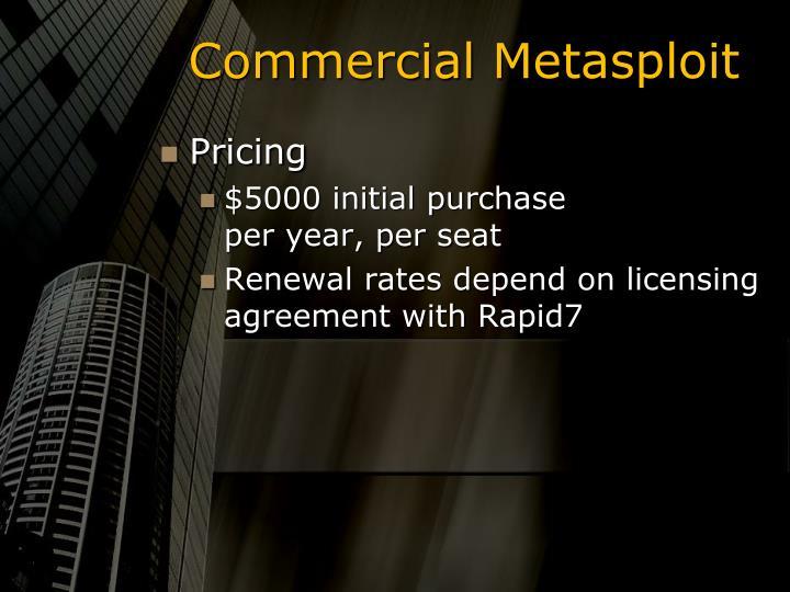 Commercial Metasploit