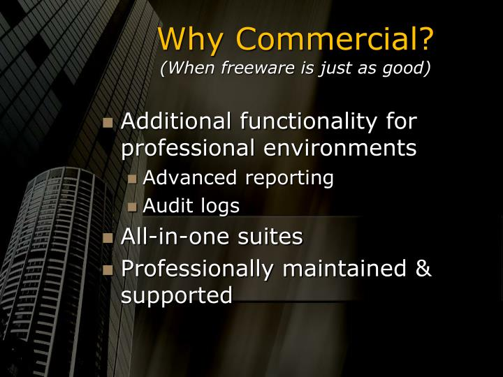 Why commercial