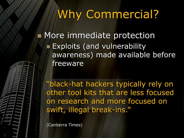Why Commercial?