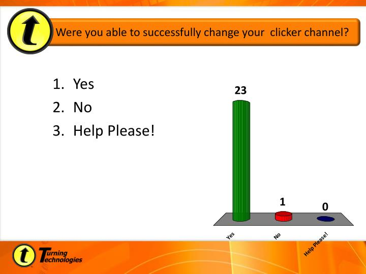 Were you able to successfully change your  clicker channel?