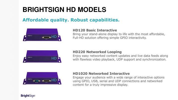 BrightSign HD