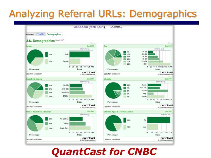Analyzing Referral URLs: Demographics