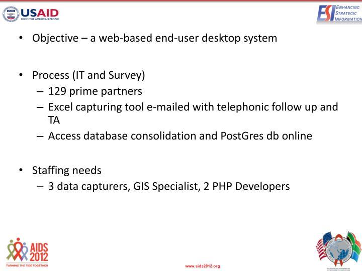 Objective – a web-based end-user desktop system
