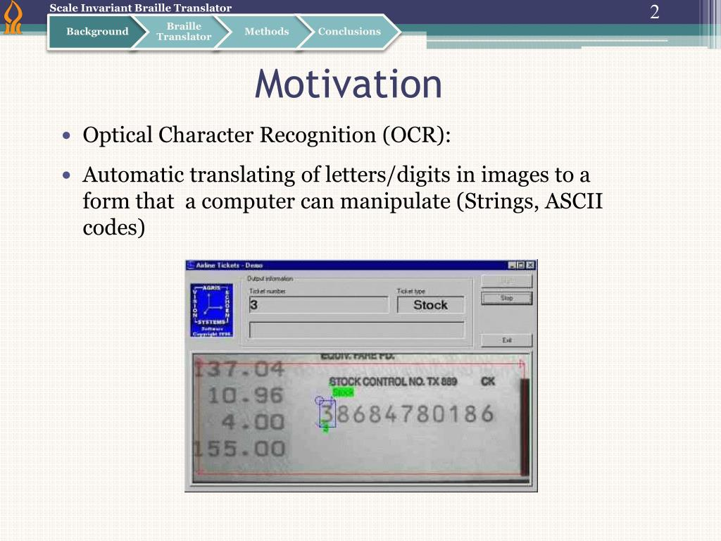 PPT - Scale Invariant Braille Translator PowerPoint