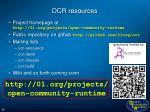 ocr resources