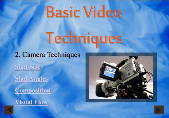 Basic Video Techniques