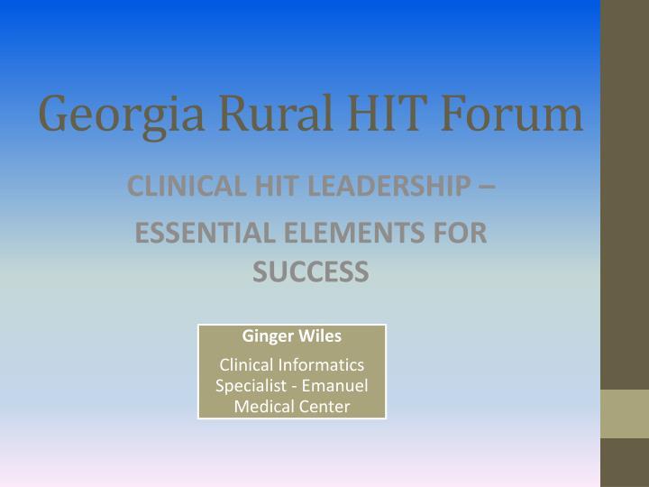 Georgia rural hit forum1
