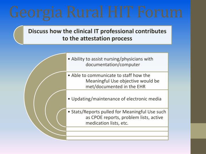 Georgia Rural HIT Forum