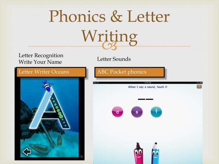 Phonics letter writing