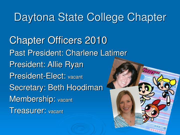 Daytona state college chapter