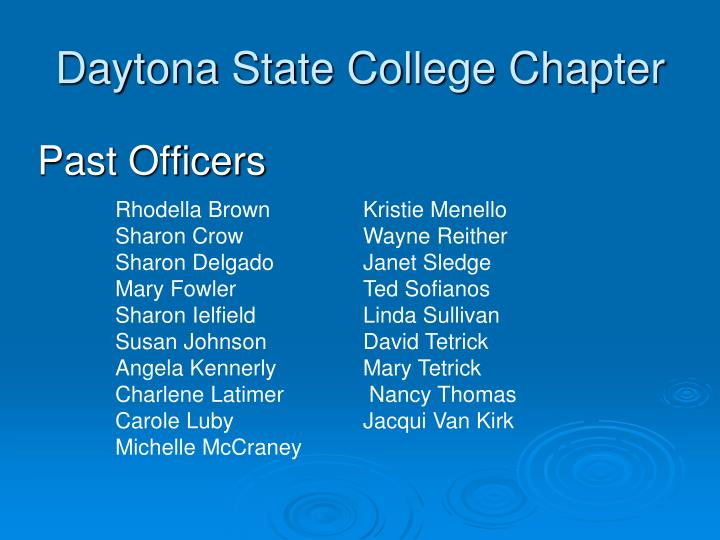 Daytona state college chapter1