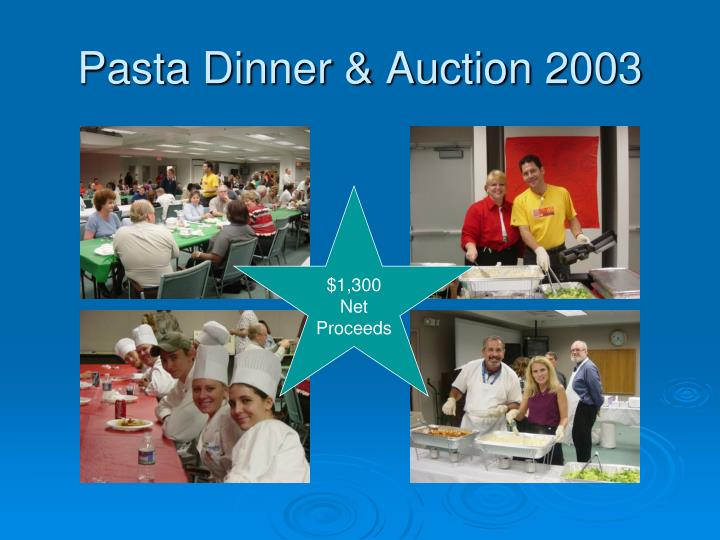 Pasta Dinner & Auction 2003
