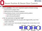 beam position beam size control