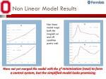 non linear model results